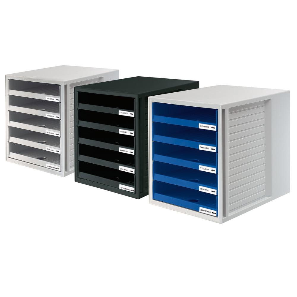 Suport pentru documente cu 5 sertare deschise Han