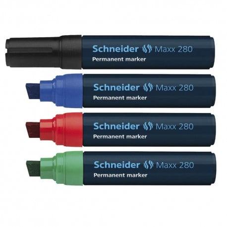 Marker permanent Schneider Maxx 280, varf tesit 4+12mm