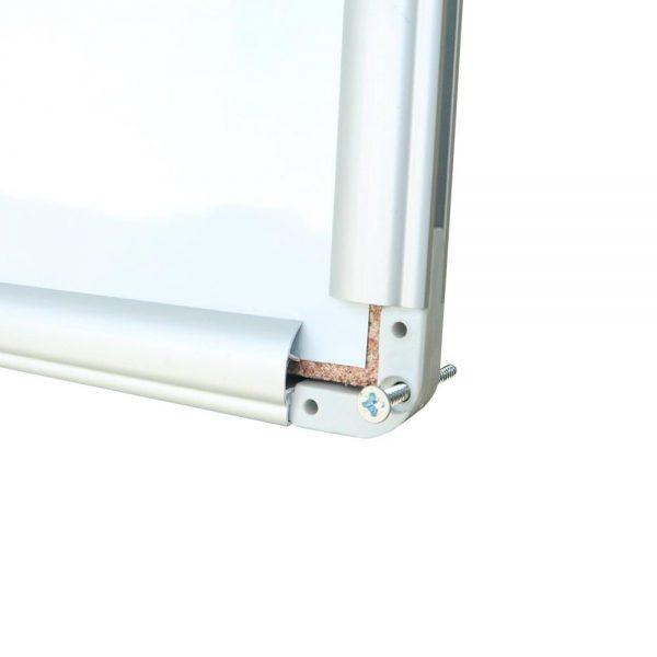 Tabla magnetica 120 x 240 cm, rama aluminiu, Noki, INT-607