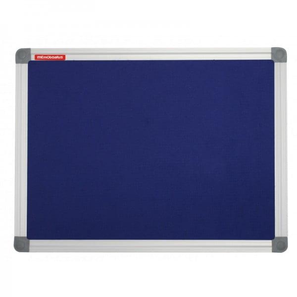 Panou textil 60 x 90 cm albastru, rama aluminiu, Memoboards