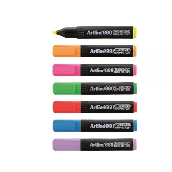 Textmarker Artline 660, varf tesit 1.0-4.0mm
