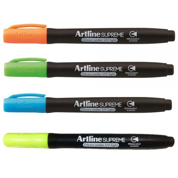 Marker permanent ARTLINE Supreme Glow, varf rotund 1.0mm