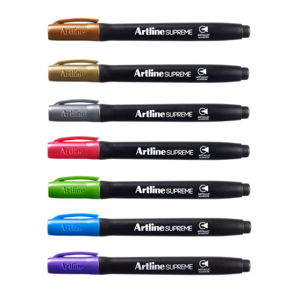 Marker metalic ARTLINE Supreme Metallic, corp plastic, varf rotund 1.0mm