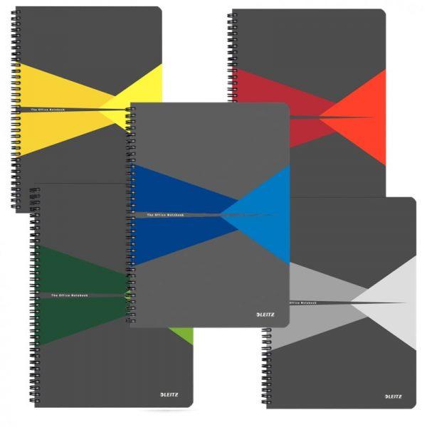 Caiet de birou Leitz Office, carton, A4, cu spira, matematica