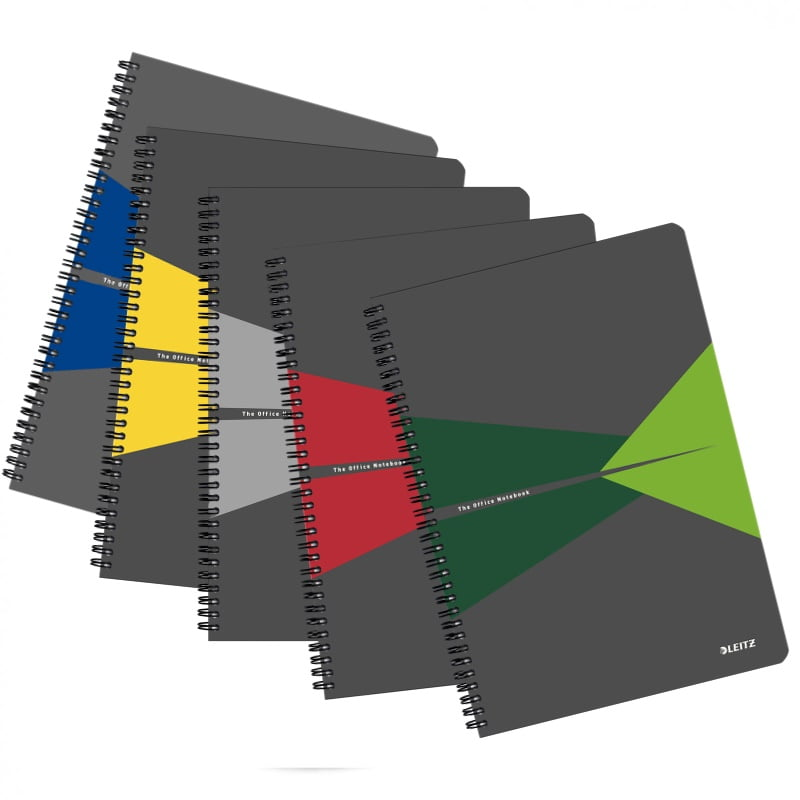 Caiet cu spira A5 Leitz Office, carton, 90 file - dictando