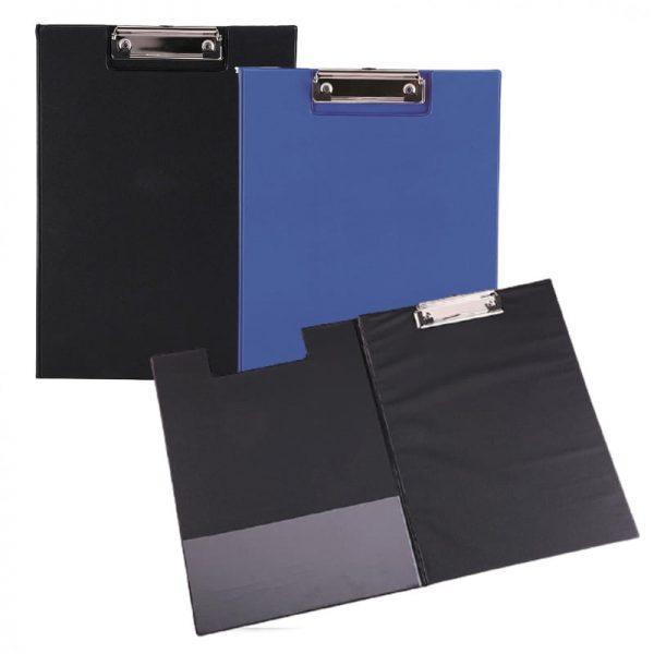 Clipboard dublu carton plastifiat A4 Deli - culoare albastru
