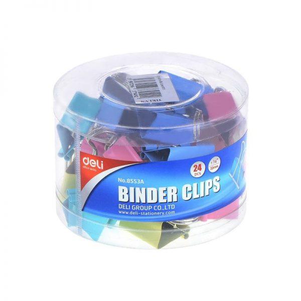 Clips hartie color 32mm 24 buc/cutie Deli