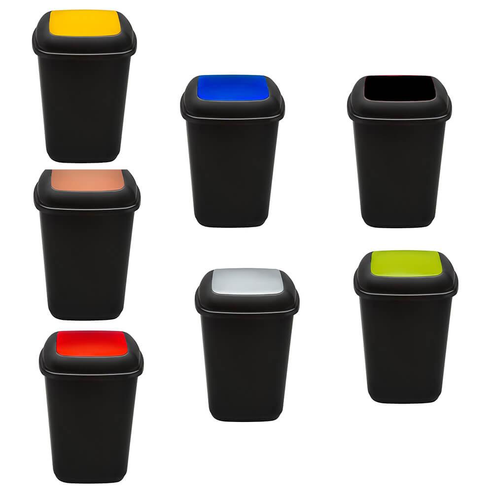 Cos plastic pentru reciclare selectiva, capacitate 45l, PLAFOR Quatro