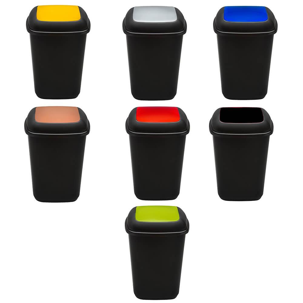 Cos plastic pentru reciclare selectiva, capacitate 28l, PLAFOR Quatro
