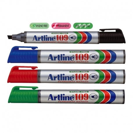 Marker permanent Artline 109, varf tesit 2-5 mm.