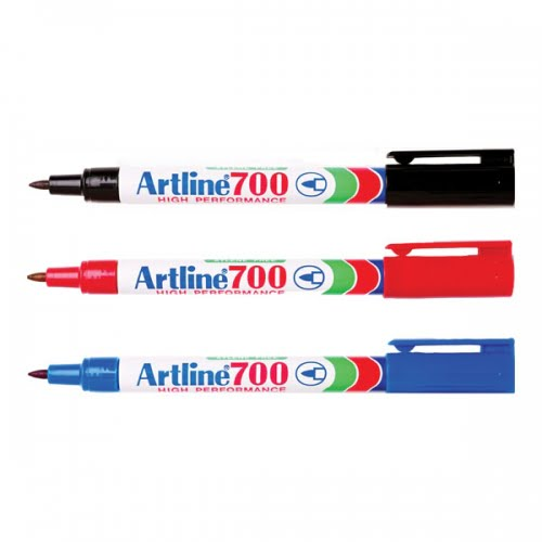 Marker permanent ARTLINE 700, corp metalic, varf rotund 0.7mm