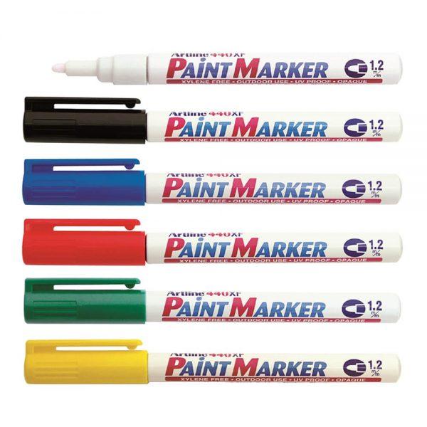 Marker cu vopsea ARTLINE 440XF, corp metalic, varf rotund 1.2mm