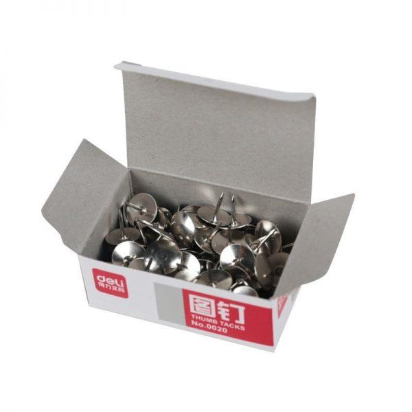 Pioneze metalice 100buc/cutie Deli