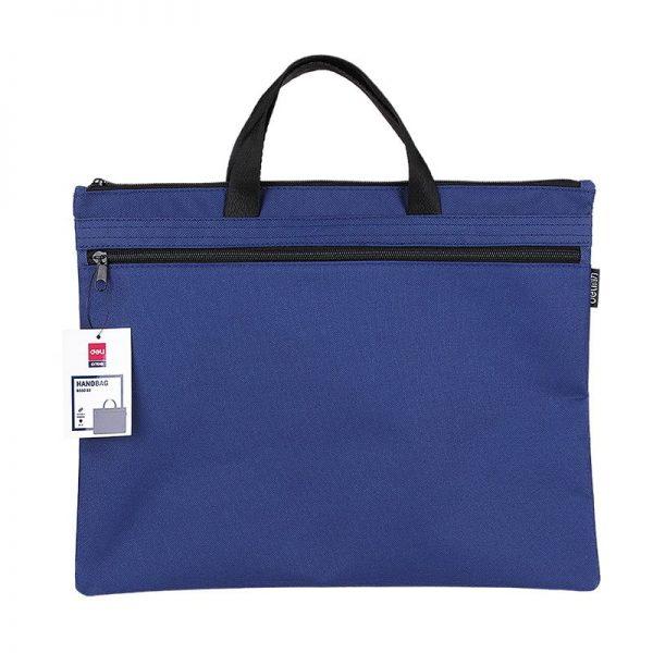 Servieta material textil 2 fermoare Deli - albastru