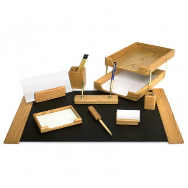 Set lux de birou din lemn 10 piese Forpus
