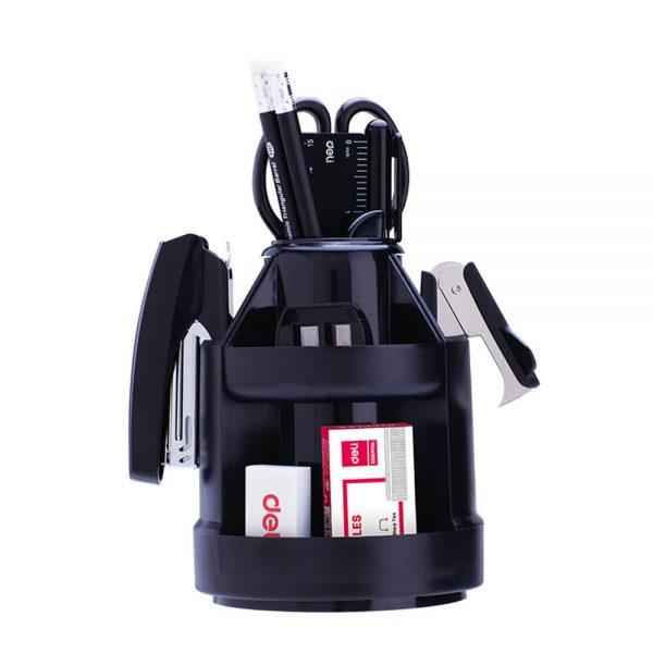 Suport rotativ accesorii birou, echipat 15 piese DELI 38250A
