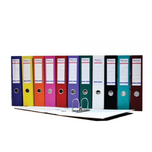 Biblioraft plastifiat Optima, 7.5 cm