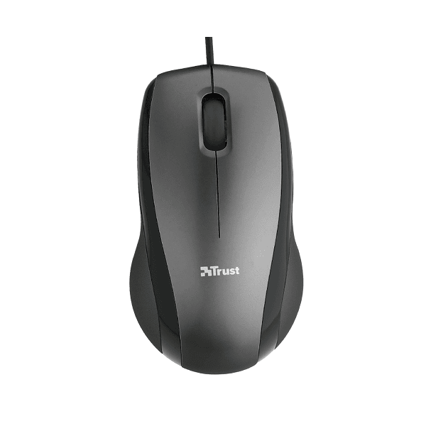 Mouse optic usb Trust Carve negru, office, rezistent, ergonomic