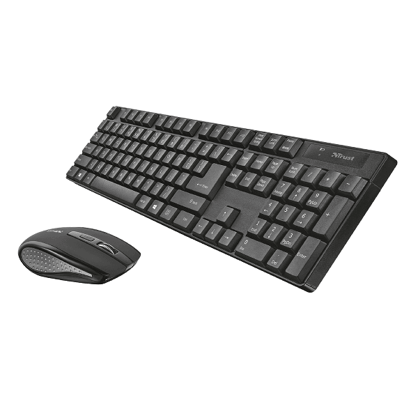 Kit mouse si tastatura wireless Trust Ximo, receiver USB, rezistent, durabil