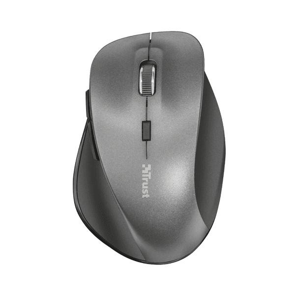 Mouse wireless Trust Ravan negru, usb, ergonomic, cu baterie