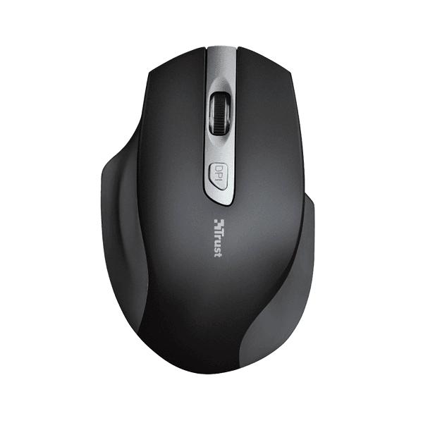 Mouse wireless Trust Lagau pentru mana stanga, USB, cu baterie, rezistent, durabil