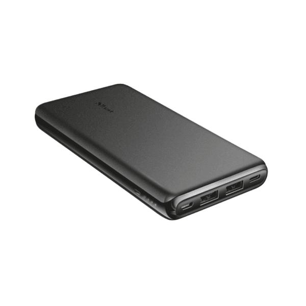 Baterie externa slim Trust Esla 10.000 mAh, negra, usor de transportat