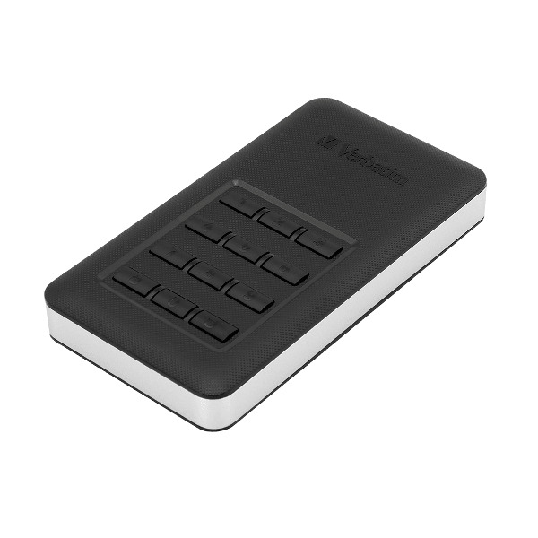 HDD portabil Verbatim Secure tastatura incorporata USB 3.1 GEN 1 1TB Black, negru, memorie flash