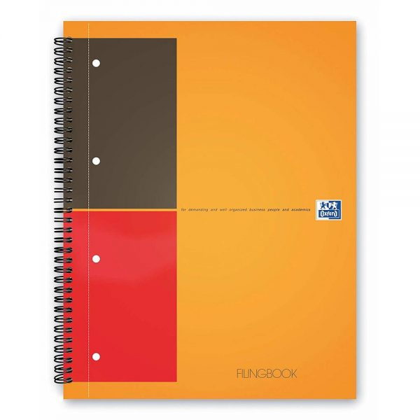 Caiet cu spirala A4+, OXFORD International Filing book