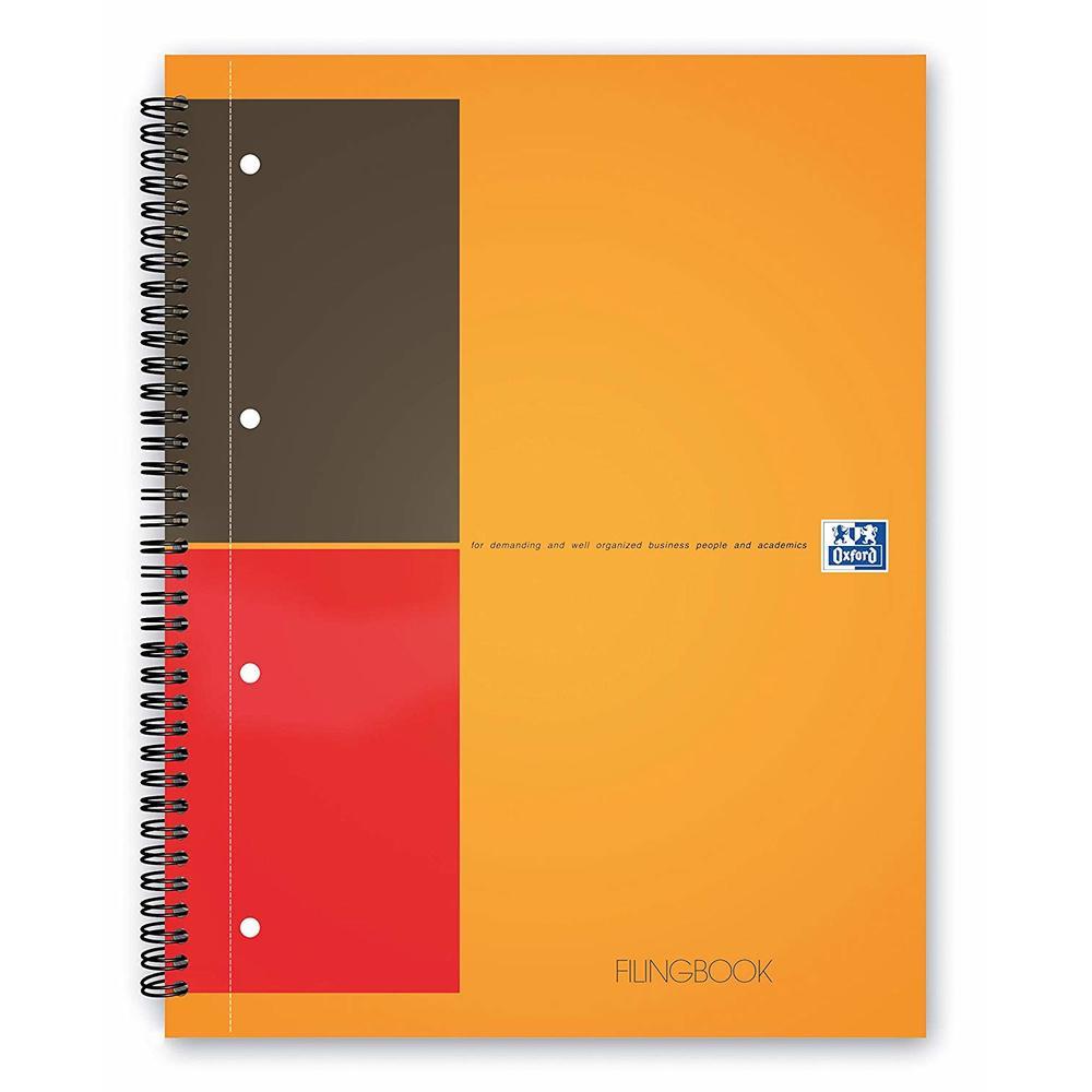 Caiet cu spirala A4+, OXFORD International Filing book