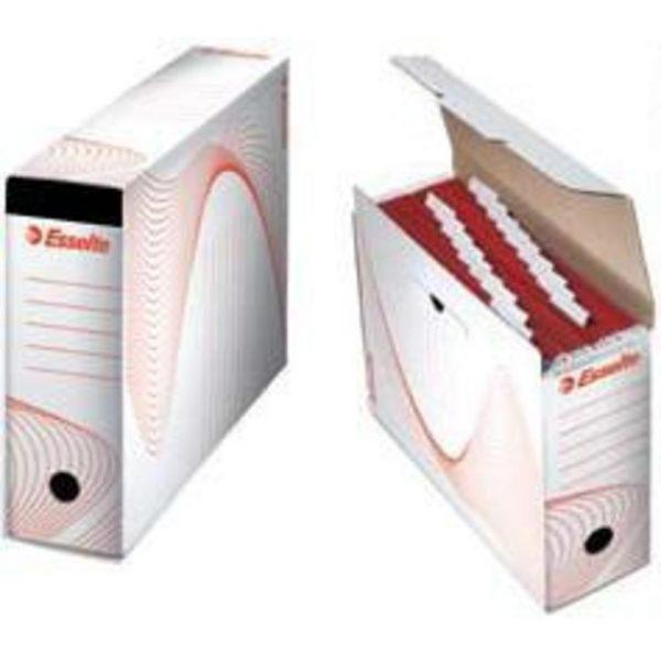 Cutie arhivare ESSELTE din carton, pentru 10 dosare suspendabile