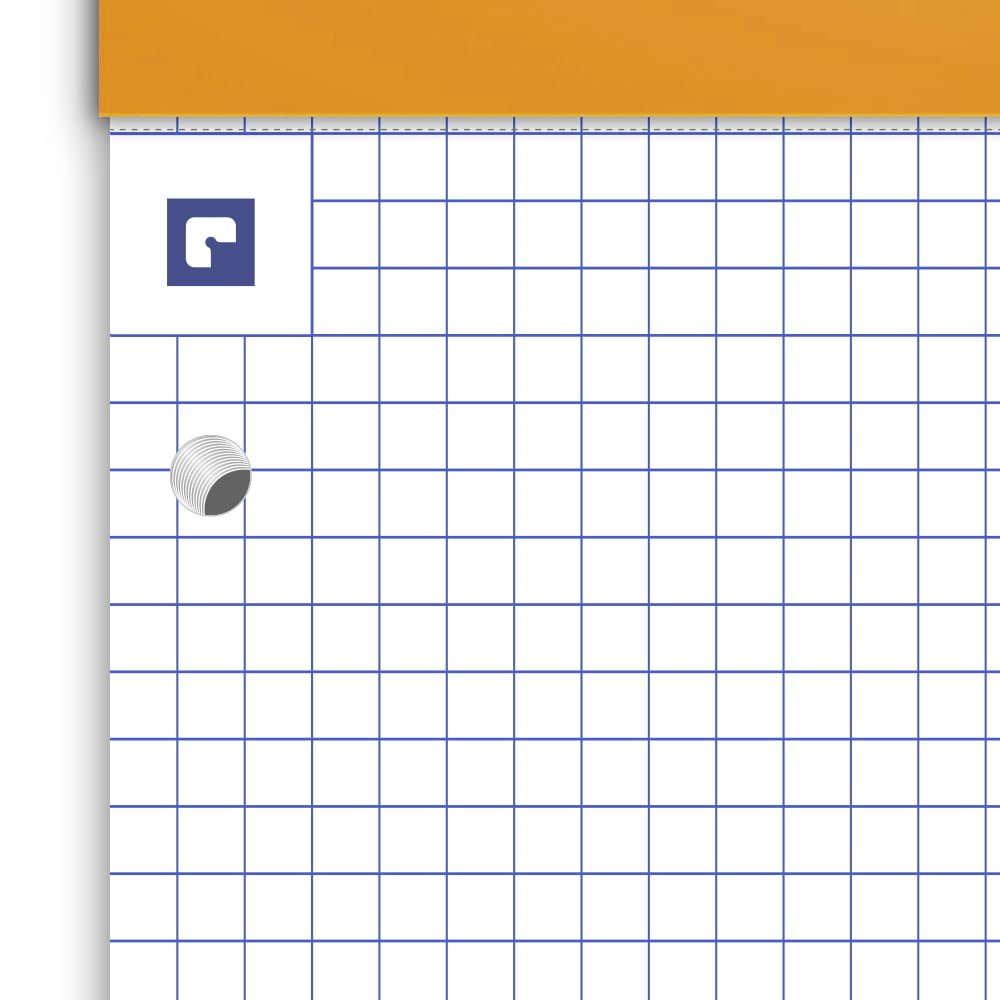 Blocnotes A4+, OXFORD Orange, 80 file galbene - 80g/mp, Scribzee, 4 perf, coperta carton - mate