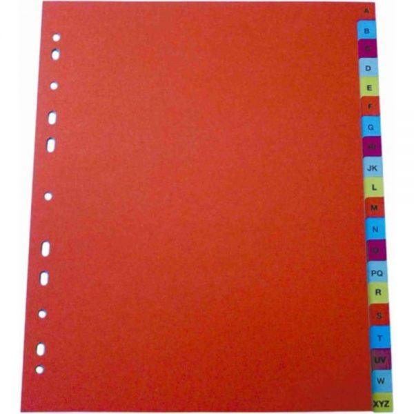 Index plastic color Optima, extra wide, A4+