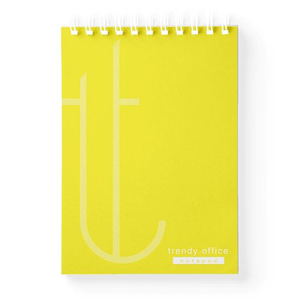 Blocnotes A5 cu spira, 70 file, Trendy Yellow