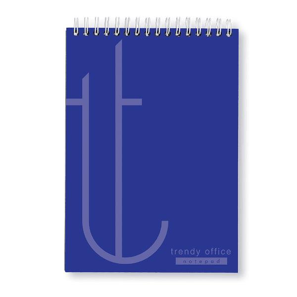 Blocnotes A4 cu spira, 70 file, Trendy blue