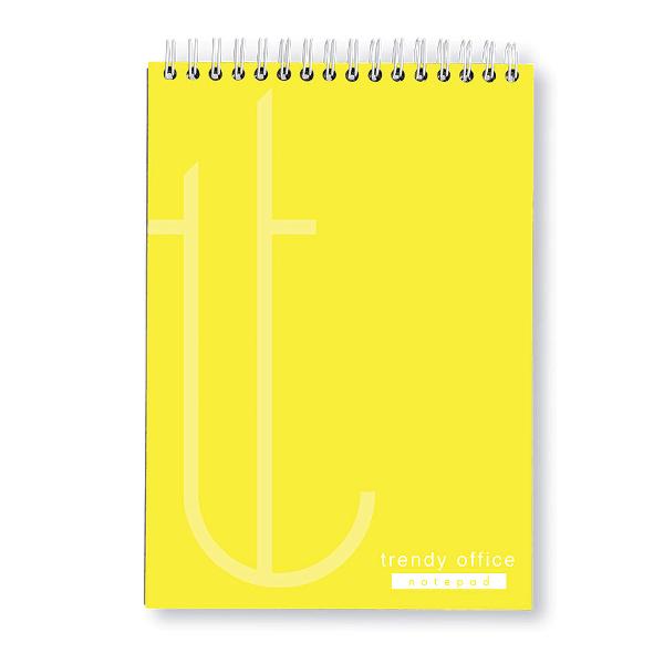 Blocnotes A4 cu spira, 70 file, Trendy Yellow