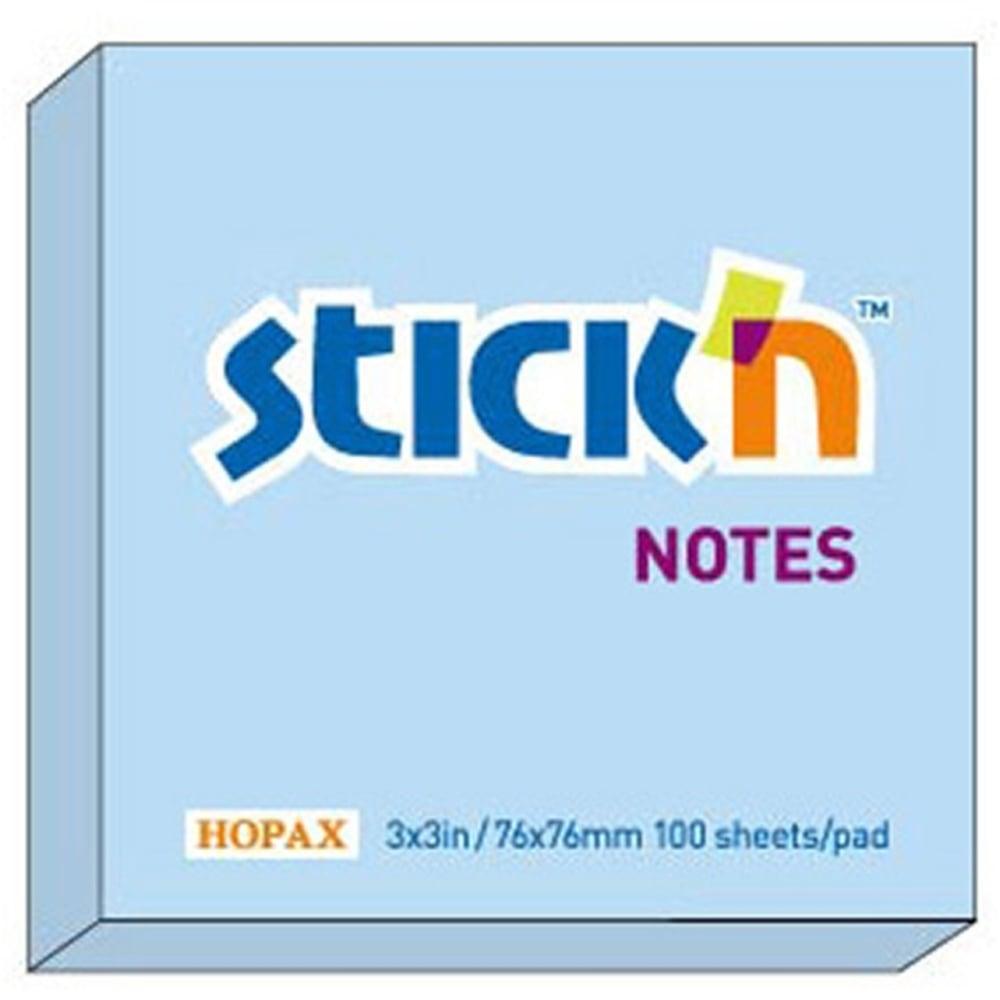 """Notes autoadeziv 76 x 76 mm, 100 file, Stick""""n - culori pastel"""