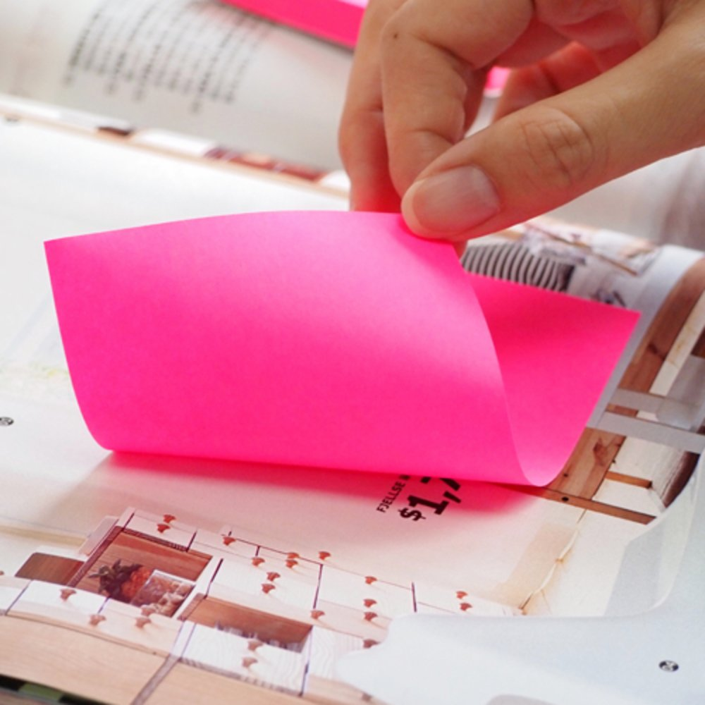 """Notes autoadeziv 76 x 127 mm, 100 file, Stick""""n - culori neon"""