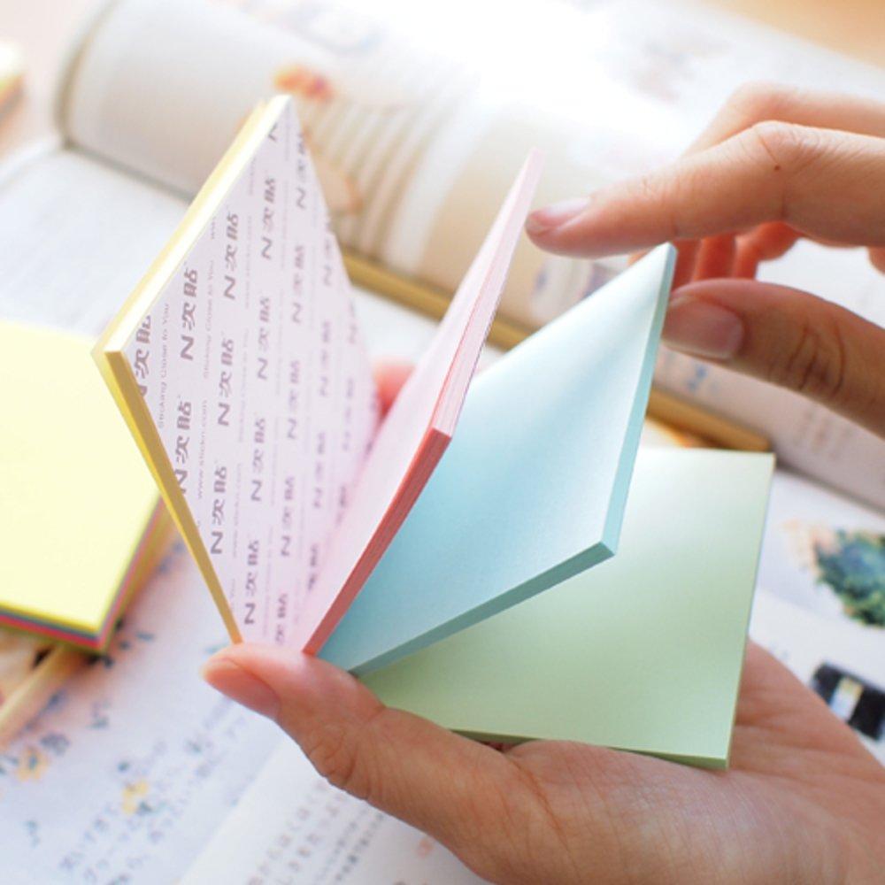 Notes autoadeziv 76x76 mm, 100 file, 4 culori pastel Magic STICK'N