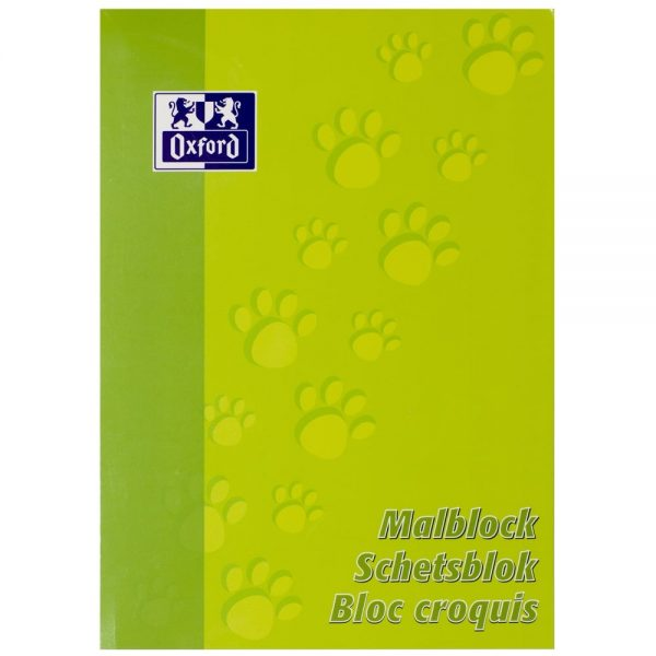 Blocnotes A4 OXFORD, 100 file - 90g/mp, pentru desenat - velin