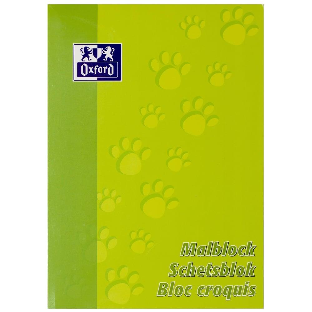 Blocnotes A4 OXFORD, 100 file - 90g/mp, pentru desenat - velin