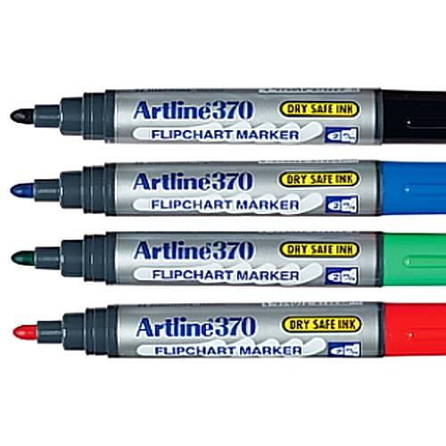 Flipchart marker Artline 370, varf rotund 2.0 mm