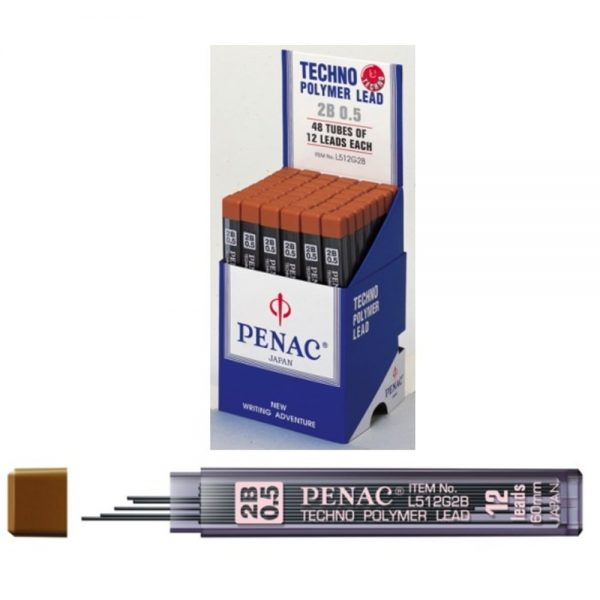 Mine creion 0,5 mm PENAC, 12 buc/set