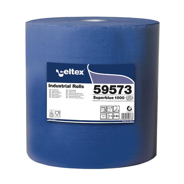 Laveta industriala 3 str albastra 1000 portii 360m 1 rola/UM