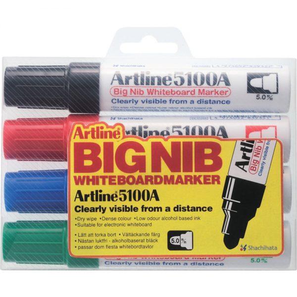 Set markere pentru tabla de scris 5100A Artline, varf 5.0mm