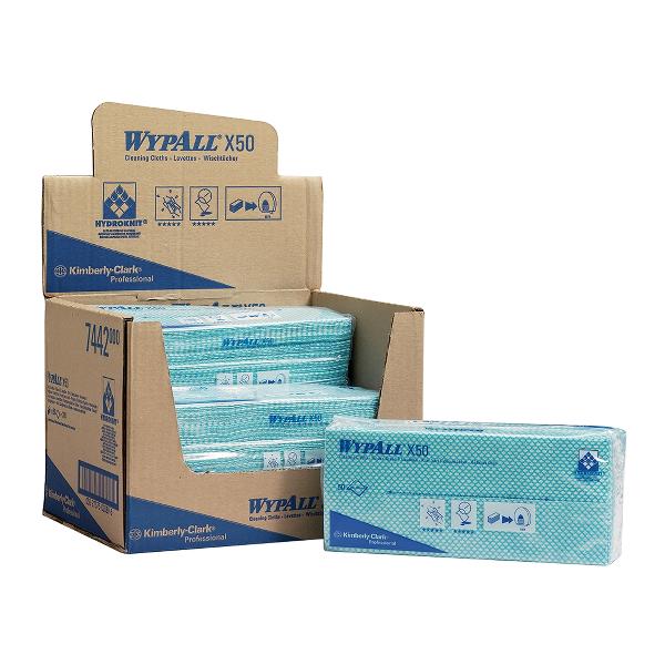 Lavete Kimberly-Clark Wypall X50, 50 bucati/set