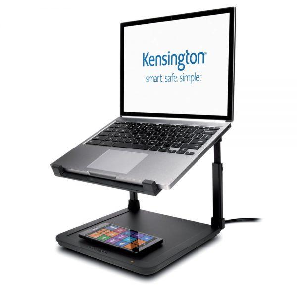 """Suport cu inaltime reglabila pentru laptop 15.6"""", suport incarcare wireless, KENSINGTON SmartFit"""