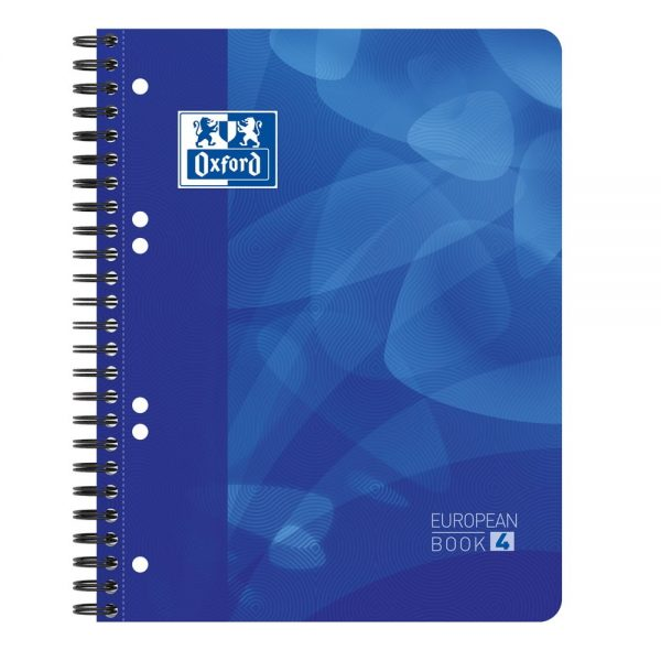 Caiet cu spirala A5+, OXFORD School Projectbook, 4cul x 30file-90g/mp, Scribzee, coperta PP-dictando