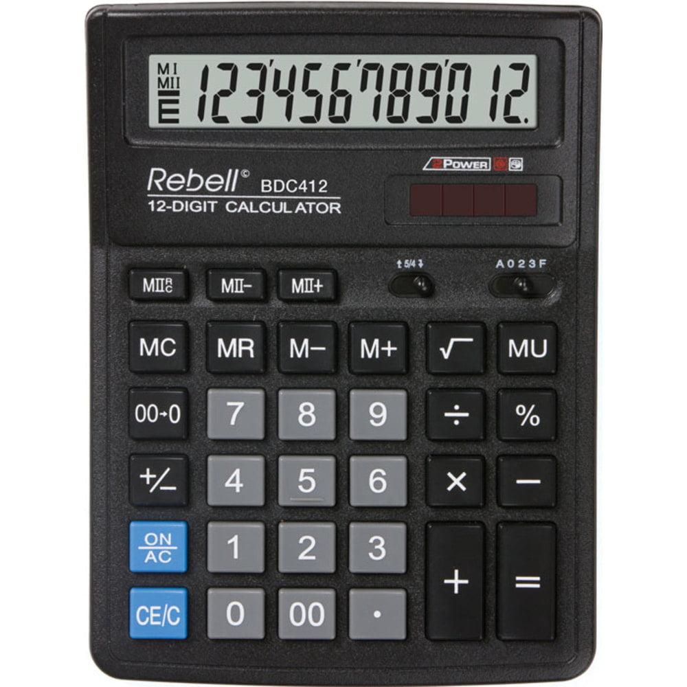 Calculator de birou cu 12 digiti Rebell BDC 412