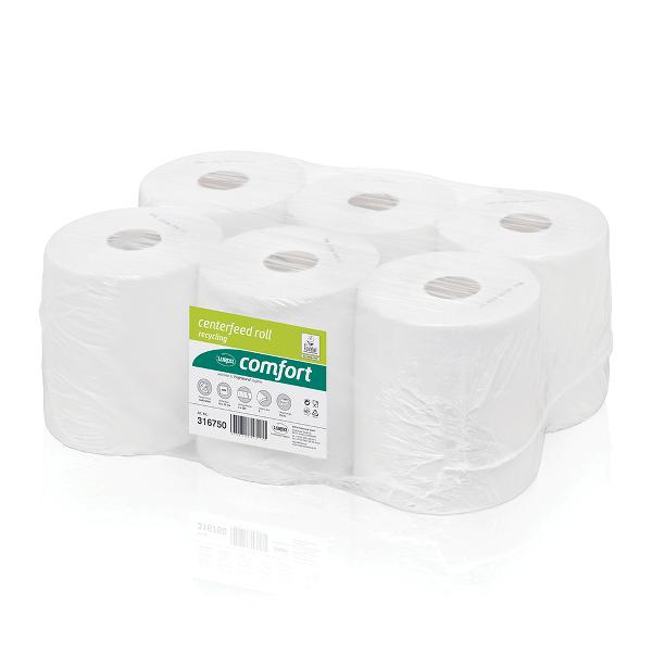 Rezerva prosoape in rola Wepa Comfort, 2 straturi, 138 m/rola, 6 role/bax