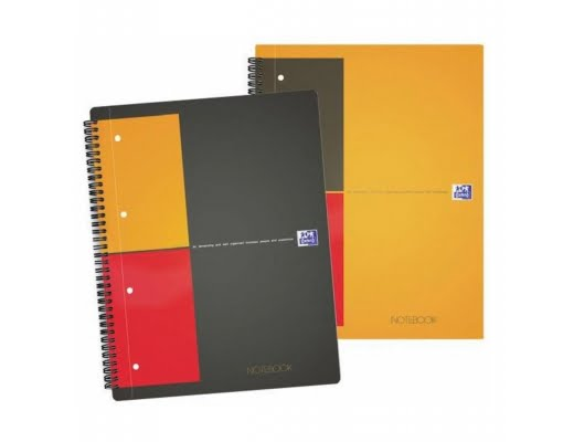 Caiet cu spirala A4+, OXFORD Int. Notebook, 80 file-80g/mp